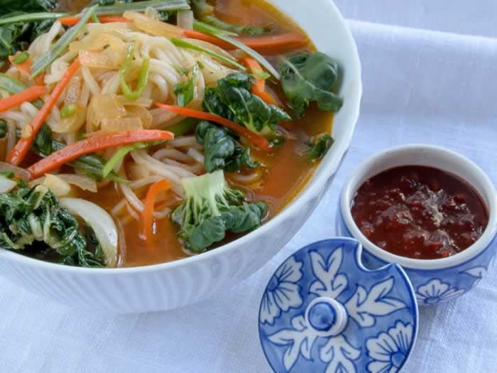 Korean Spicy Noodle Soup (Jjambbong)