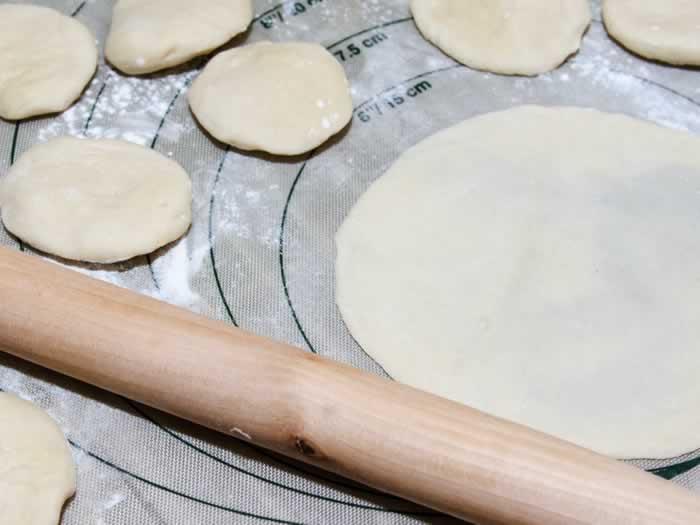 Asian Pancake Shaping Step 3