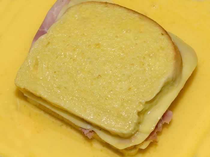 Egg Battered Bread for Monte Christo Sandwich