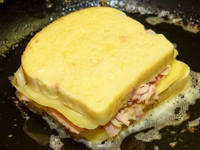 Frying Monte Christo Sandwich