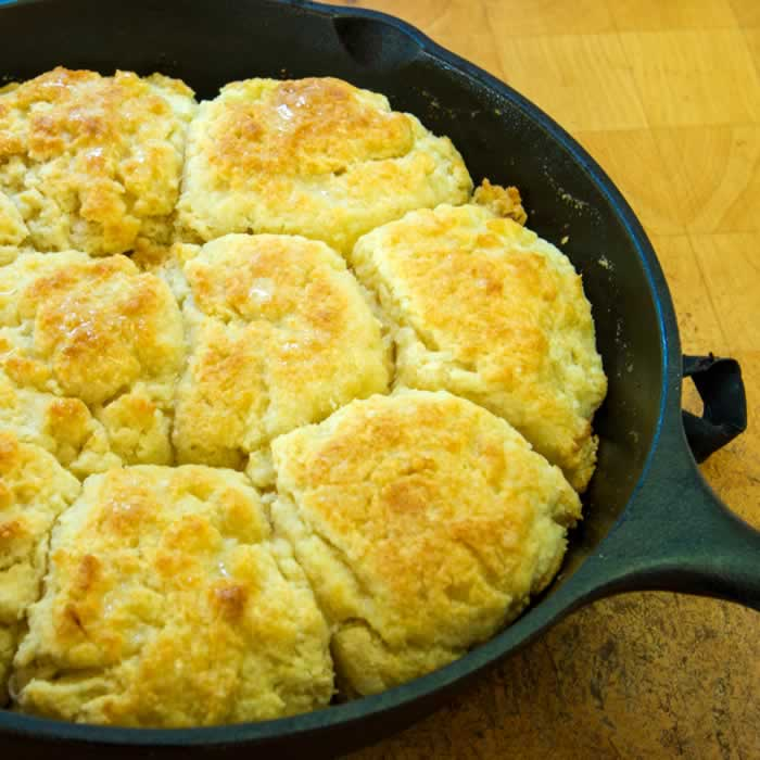 Thanksgiving Recipe Roundup: Heavenly Light Buttermilk Skillet Biscuits