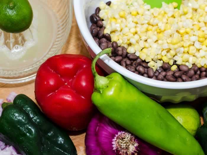 Ingredients for Sweet Corn & Black Bean Quesadillas