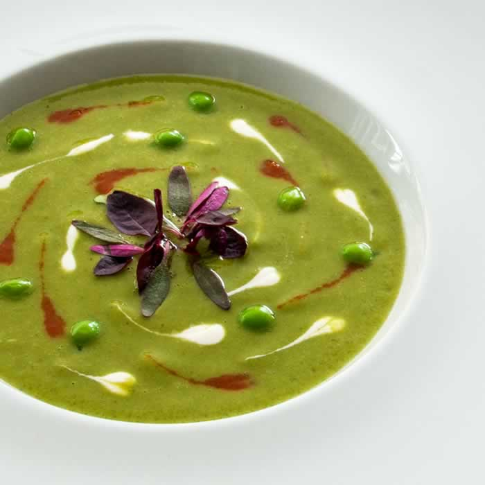Cold Green Pea Soup (Green Pea Gazpacho)