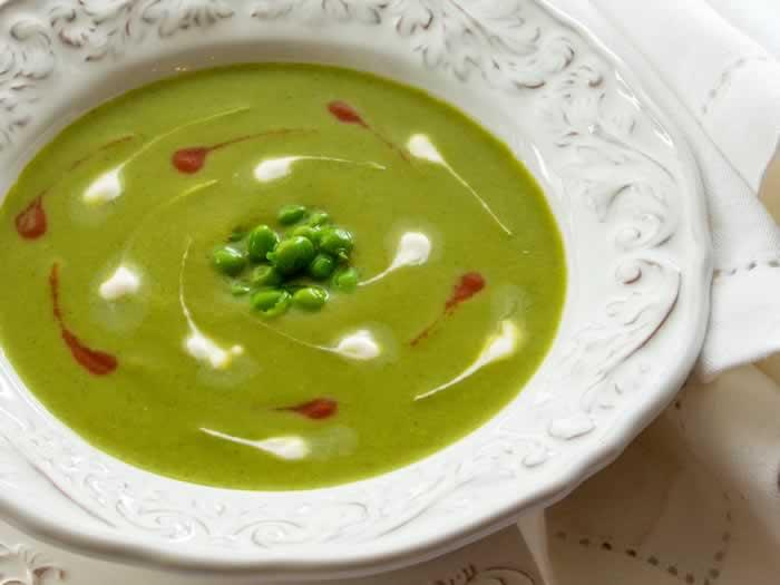 Cold Green Pea Soup (Green Pea Gazpacho)