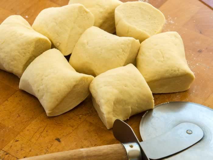 Ricotta Cavatelli Pasta Dough Ready for Rolling