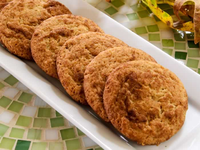 Super Chewy Snickerdoodles on a Plate