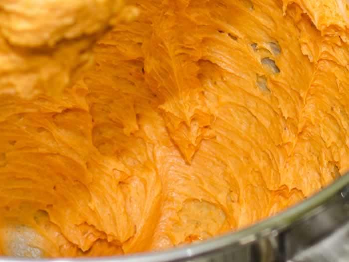 Mixing Orange Pumpkin Spice Cookies