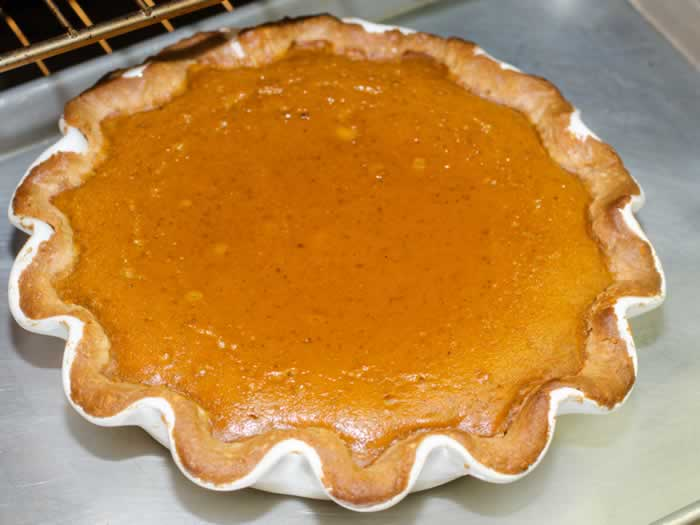 Pumpkin Pie Just Out of the Oven