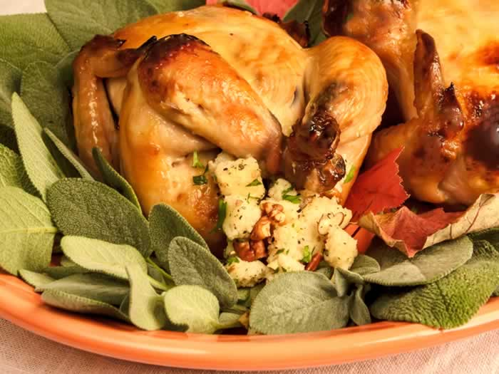 Thanksgiving Recipe Roundup: Spiced Apple Cider Brined Roast Cornish Game Hens