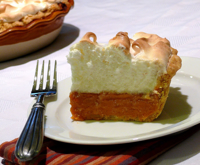 Sweet Potato Pie with Marshmallow Meringue by Cathy Pollak of Noble Pig