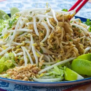 Phat Thai (Stir-Fried Rice Noodles with Tamarind Sauce, Peanuts & Lime)