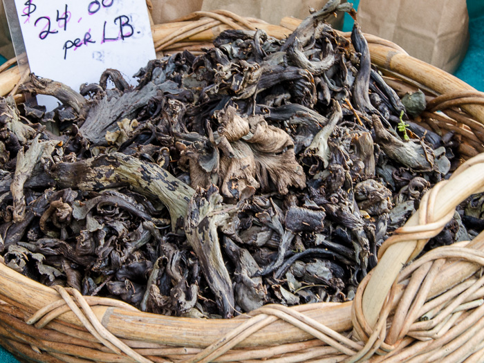 Portland Farmers Market Opening Day 2014: Black Trumpet Mushrooms