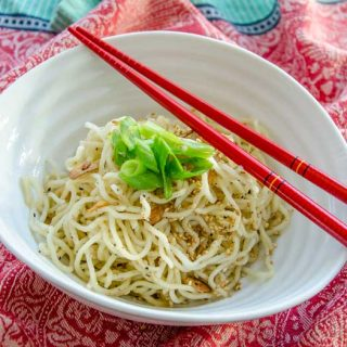 Golden Fried Garlic Sesame Noodles