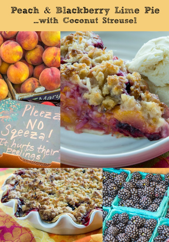 Crisp with Toasted Almond Streusel Ginger-Lime Peach & Blueberry Crisp ...