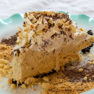 Ought to Be Illegal Butterfinger Pie (No Bake)
