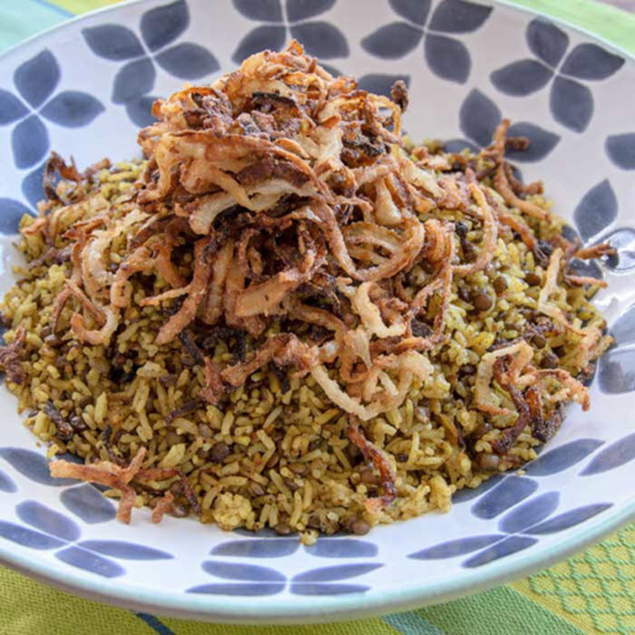 LunaCafe Top Posts 2014: Almost Yotam Ottolenghi's Mejadra (Spiced Rice & Lentils)