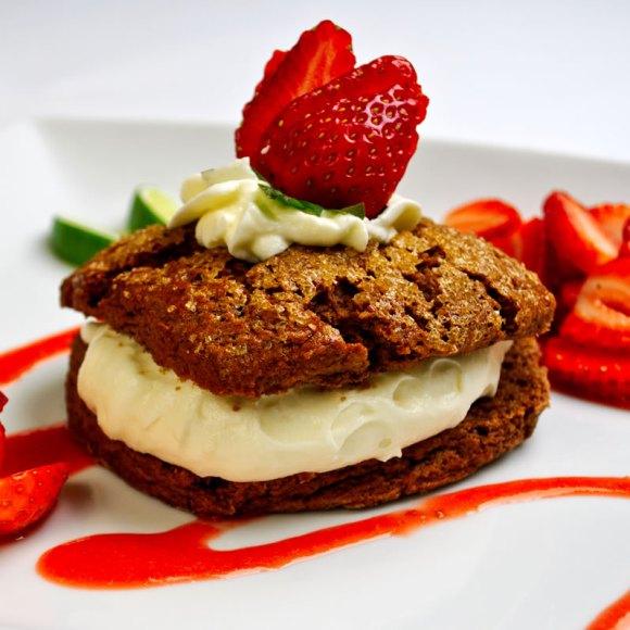 10 Super Easy Chocolate Dream Cakes: Mayan Chocolate Shortcake with White Chocolate Crema Strawberry Lime Sauce