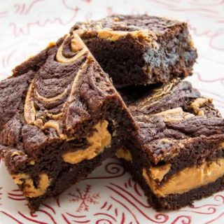 Peanut Butter Fudge Brownies | LunaCafe