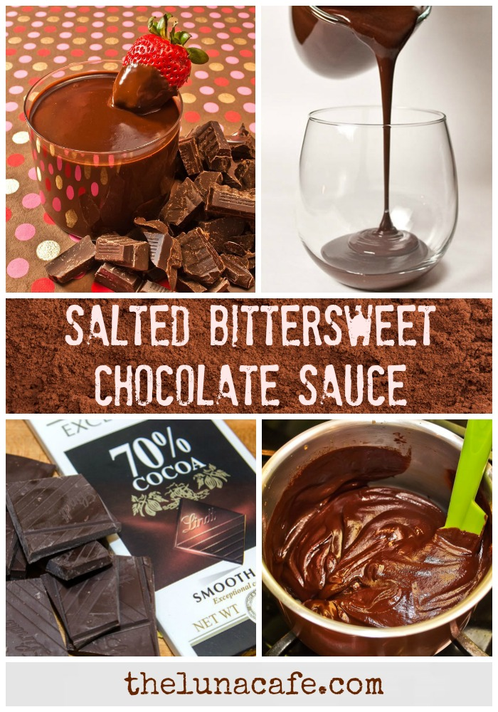 Salted Bittersweet Chocolate Sauce