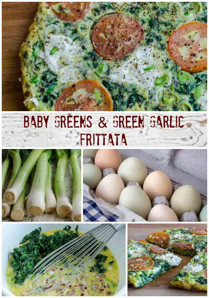 Baby Greens & Green Garlic Frittata | LunaCafe