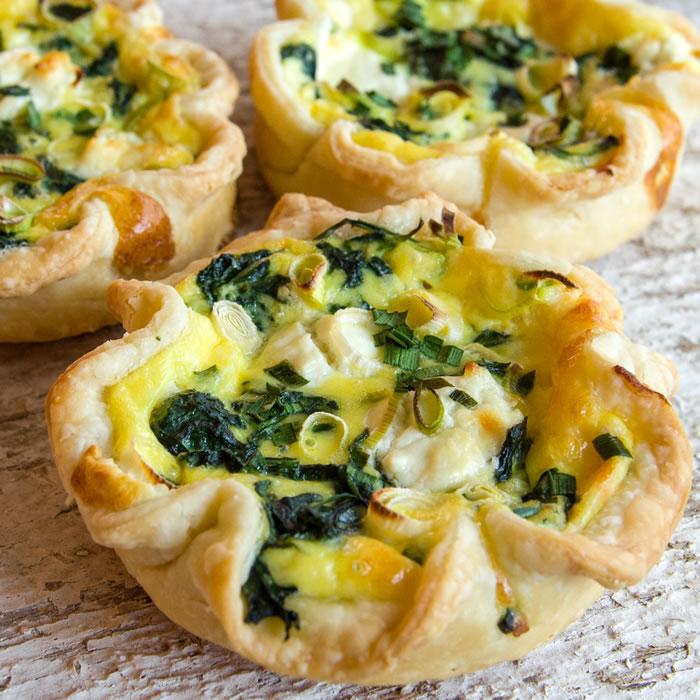 Baby Greens, Green Garlic & Garlic Chive Tarts 4
