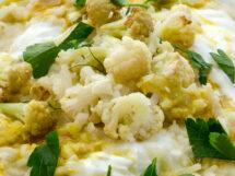 Risotto of Green Garlic, Cauliflower & Moroccan Spices