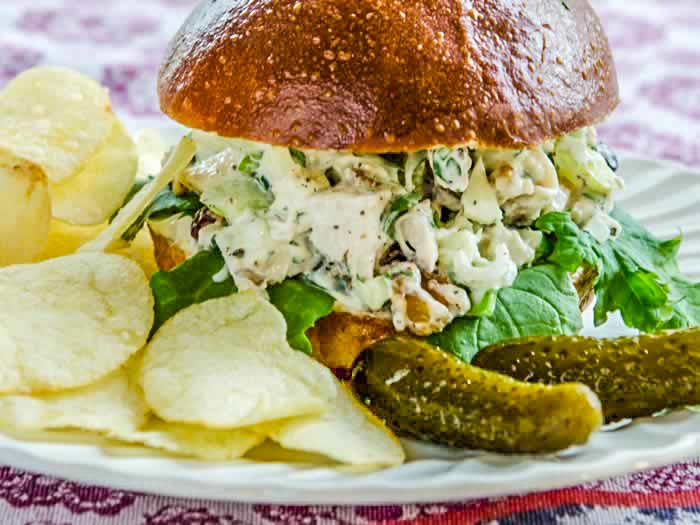 Autumn Chicken Salad Sandwich | LunaCafe