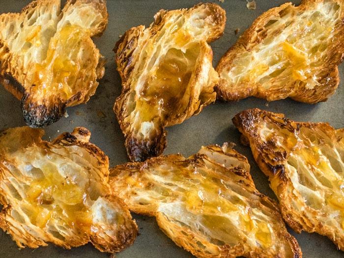 Rhubarb Orange-Rosemary Croissant Pudding   LunaCafe