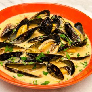 Northwest Mussel Bourride with Aioli | LunaCafe