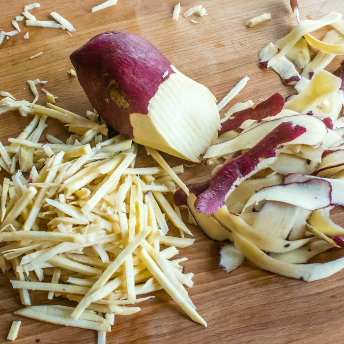 Crispy Crunchy Asian Sweet Potato & Prawn Cakes | LunaCafe