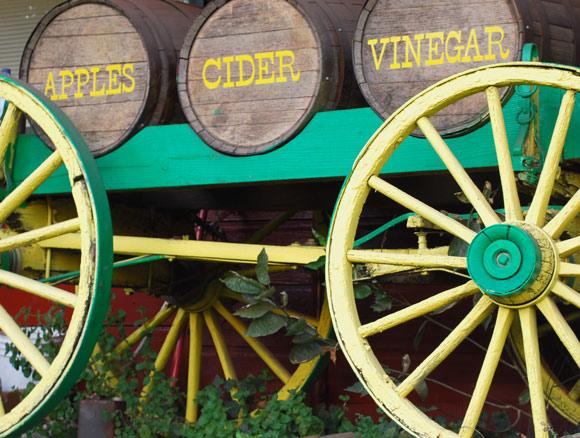 Northwest Apple Cider Vinegar in Barrels