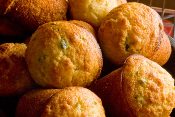 Closeup of Aunt Elfred's Corn Bread Muffins