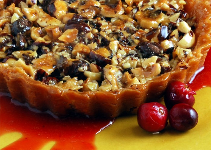 Hazelnut Honey Toffee Tart