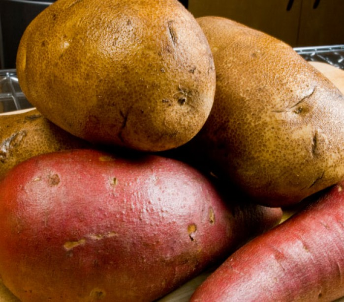 Perfect Mashed Potatoes: Whole Potatoes and Yams