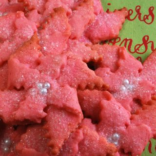 Almond Butter Poinsettia Cookies