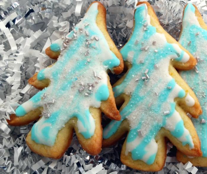 Orange Vanilla Sugar Cookies Christmas Trees